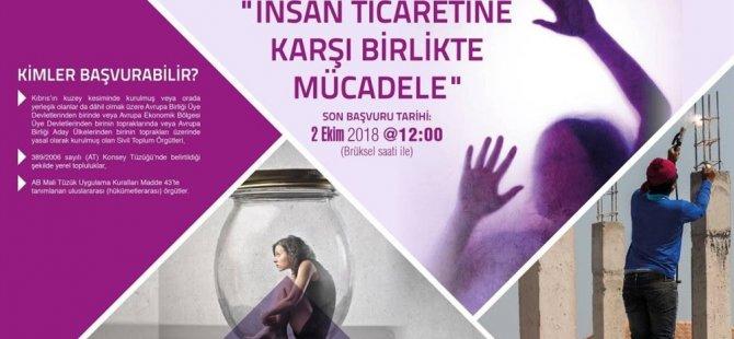 """""""İnsan ticaretine karşı birlikte mücadele programı""""na 2 Ekim'e kadar teklif kabul edilecek"""