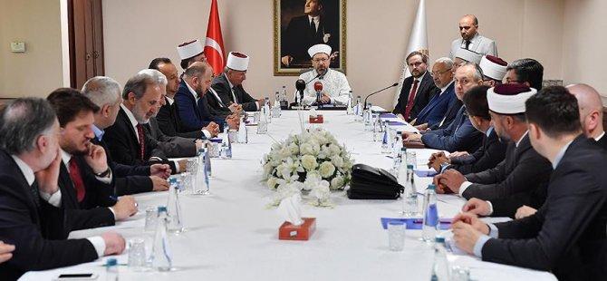 Erbaş, Müslüman dini liderleri kabul etti