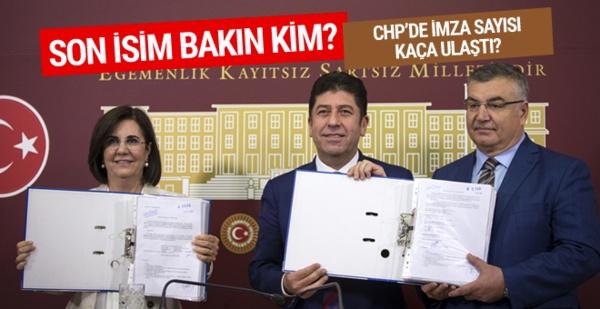 CHP'de imza sayısı kaça ulaştı?