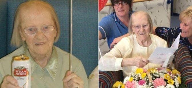 100 Yaşındaki Eileen'in Uzun Yaşam Sırrı: Bira ve Kremalı Bisküvi