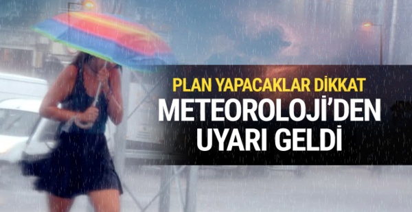 Hava sıcaklığı 3-4 derece düşecek yarın yer yer sağanak yağmur da bekleniyor