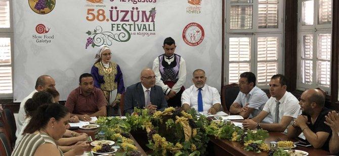 58. Mehmetçik Üzüm Festivali 5-12 Ağustos'ta