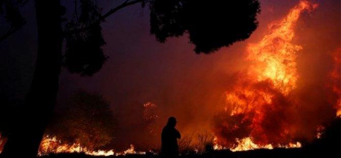Yunanistan'daki yangın trajediye dönüştü