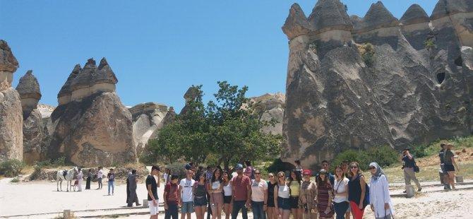 Girişimcilik ve yenilikçi fikir yarışması'nı kazanan öğrenciler, Kayseri Kapadokya'yı gezdi