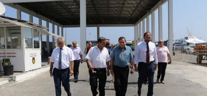 Serdar Denktaş, Girne Turizm Limanı'nda incelemelerde bulundu