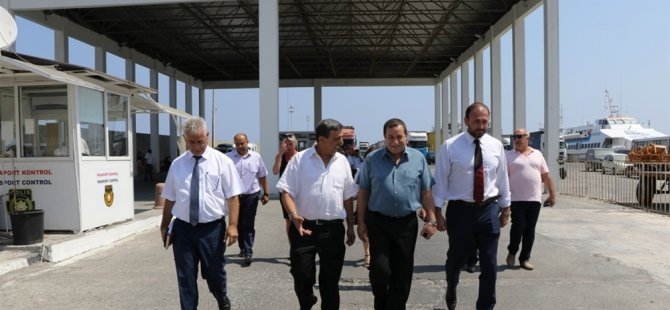 Denktaş, Girne Turizm Limanı'nda incelemelerde bulundu