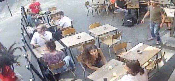 Paris'te sokak ortasında kadına şiddet