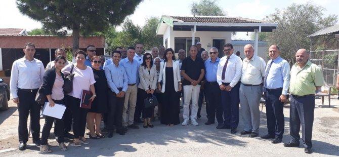 Meclis Komitesi, Salamis Karavan Kamp Tesisi'ne gözlem ziyaretinde bulundu