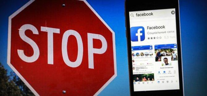 Facebook bazı hesapları engelledi