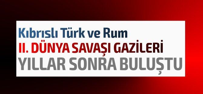 Rum ve  Türk iki gazi, İkinci Dünya Savaşı'ndan sonra ilk kez bir araya geldiler