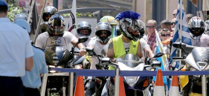 Rum motosikletlilerin eylemleri bugün de devam edecek