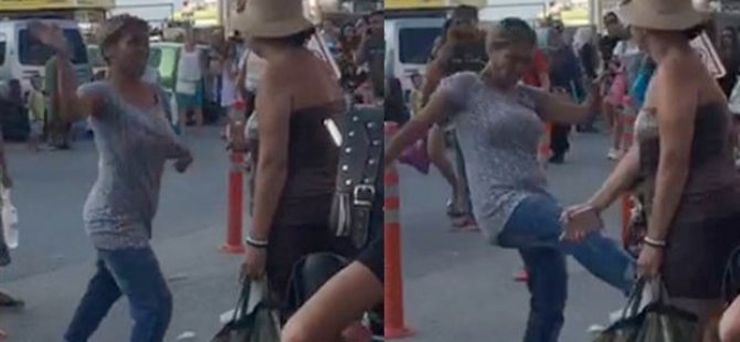 'Kocama baktın' diyerek turiste saldırdı