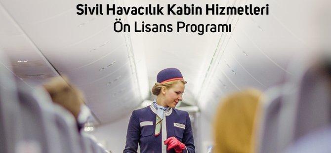 DAÜ, Sivil Havacılık Kabin hizmetleri ön lisans programı öğrencilerini bekliyor