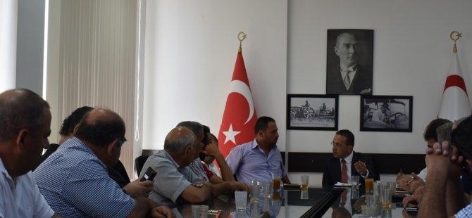 Şahali, Kıbrıs Türk Çiftçiler Birliği heyetini kabul etti