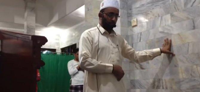 Endonezya'daki depremde namaza ara vermeyen imam gündem oldu (video)