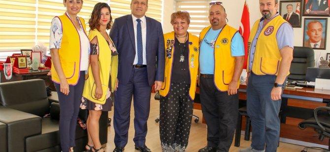 Mağusa Mesarya Lıons Kulübü'nden Arter'e ziyaret