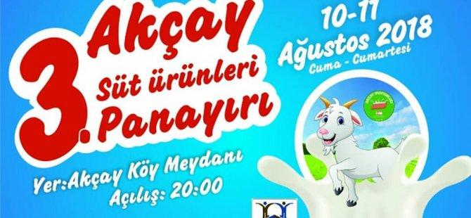 Akçay süt ürünleri panayırı'nın 3'üncüsü cuma günü başlayacak