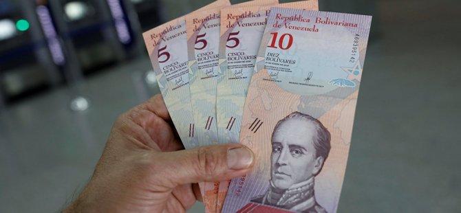 Venezüella'da 5 sıfır atılan yeni para birimi 'Egemen Bolivar' yürürlükte