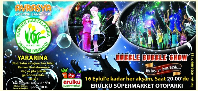 Hubble Bubble Show 30 Eylül'e kadar sürecek
