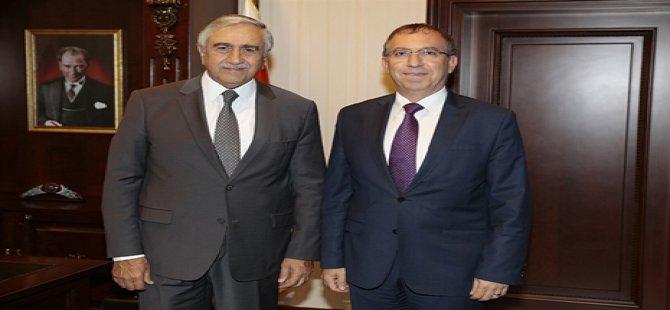 Cumhurbaşkanı Akıncı, Ankara Büyükelçiliği'ne atanan Köprülü'yü kabul etti