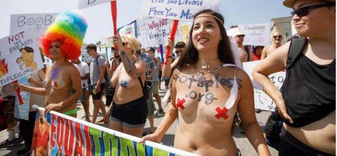 'Memelere Özgürlük Günü' için kadınlar sokaklara döküldü