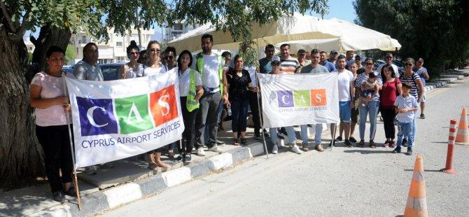 CAS personeli Başbakanlık önünde