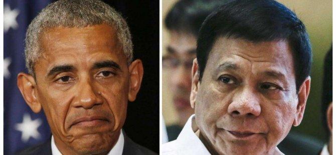 Duterte'den Obama'ya: 'O..... çocuğu' dediğim için üzgünüm, affet