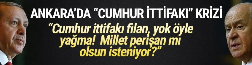 AK Parti ile MHP arasında yeni kriz: 'Cumhur ittifakı filan yok öyle yağma'