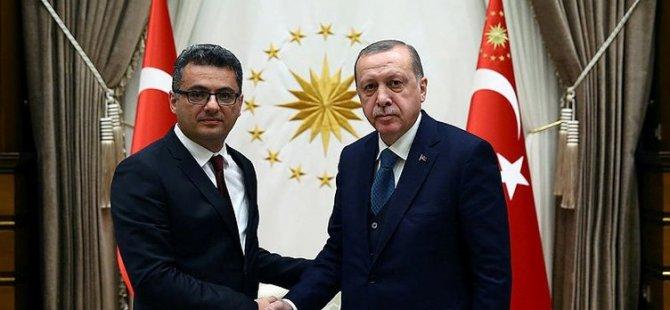 Erdoğan, Erhürman'ı kabul etti