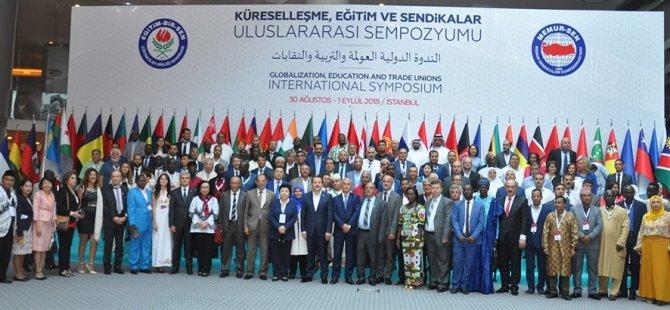 KIBTES, Uluslararası Küreselleşme, Eğitim ve Sendikalar Sempozyumuna katıldı
