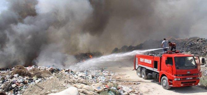 İskele Belediyesi'nden çöplük yangını için acil çağrı