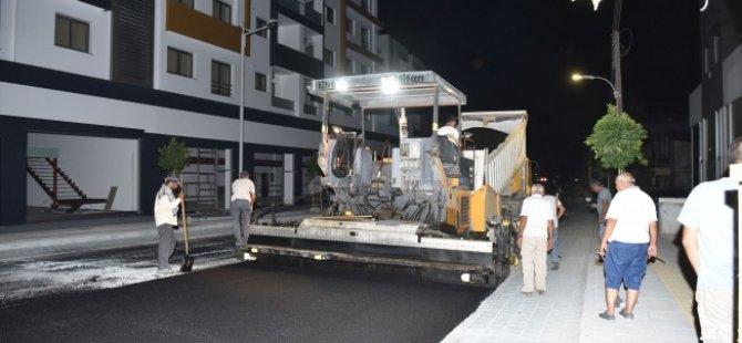 Gönyeli Belediye Bulvarı'na yeniden asfalt döküldü
