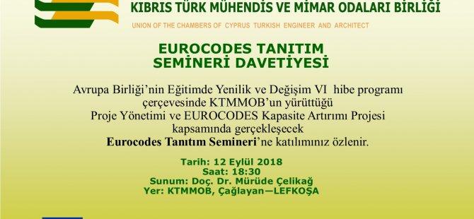 KTMMOB Eurocodes Tanıtım Semineri düzenliyor