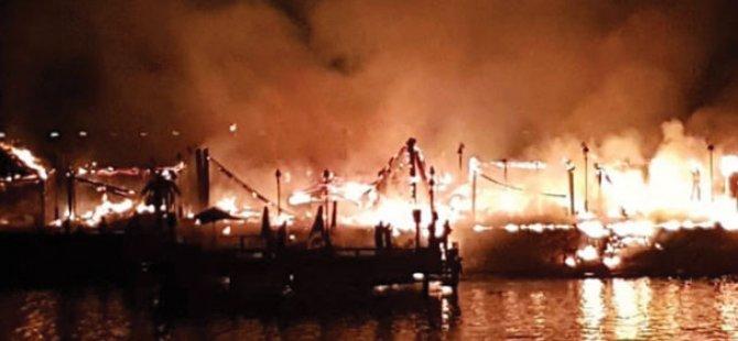 SON DAKİKA: Girne'de Şok Yangın Cratos (videolu)