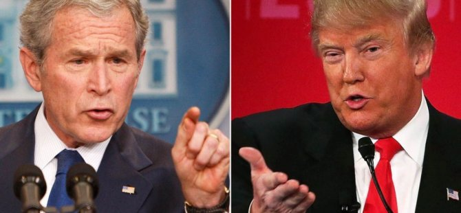 Trump, 'ABD tarihindeki gelmiş geçmiş en büyük hatayı' Bush'a yıktı