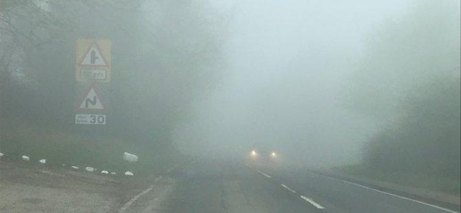 Polisten sis uyarısı: Görüş mesafesi 50 metreye düştü