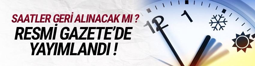 Türkiye'de yaz saati kararı