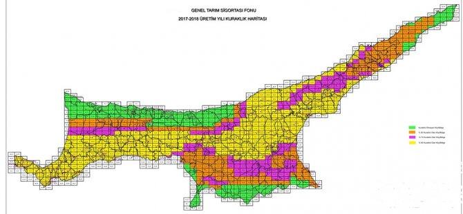 2017-2018 üretim yılı kuraklık haritası açıklandı