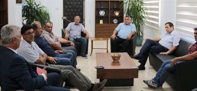 Denktaş İnşaat Taşeronları Birliği yönetim kurulunu kabul etti