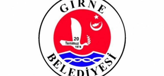 Girne Belediyesinden duyurulur