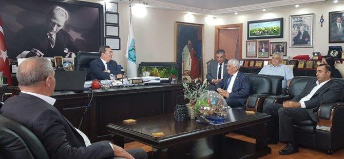 Kıbrıs Türk Belediyeler Birliği Heyeti İzmir'de temaslarda bulunuyor