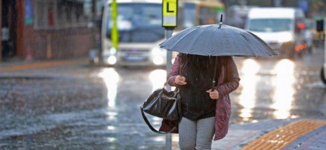 """Meteoroloji Dairesi Açıkladı: """"Hafta boyunca yağmur bekleniyor"""""""