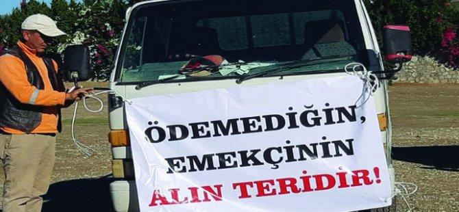 İnşaat Müteahhitler Birliği, Lefkoşa'da araçlı eylem yapıyor