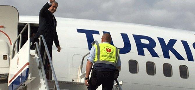 Cumhurbaşkanı Akıncı, yeni havalimanı açılış töreni için İstanbul'a gitti