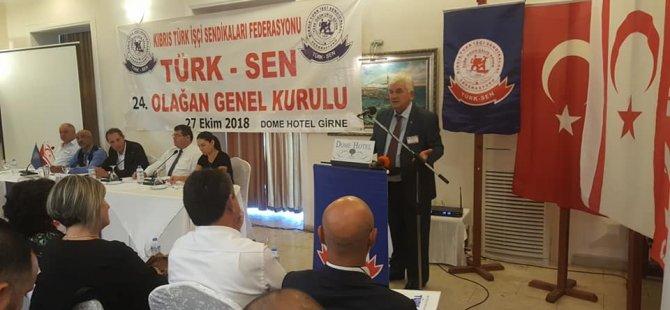 Arslan Bıçaklı yeniden Türk-Sen genel başkanlığına seçildi