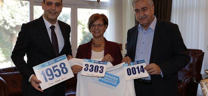 Akıncı ve eşi, Lefkoşa Maratonu'na katılacak