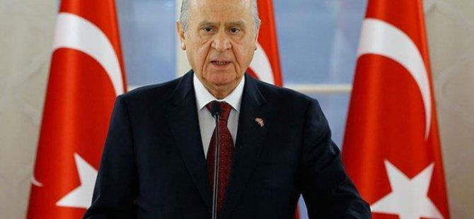 """Bahçeli: """"Doğu Akdeniz'deki provokasyonlar Türkiye'yi pes ettiremeyecek"""""""