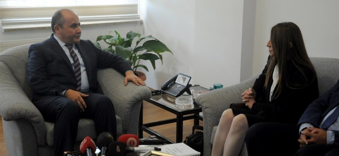 Büyükelçisi Başçeri, Yödak Başkanı Büke'yi kabul etti