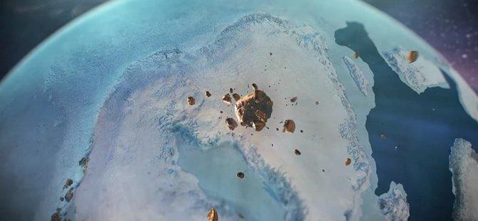 Grönland'de buz tabakası altında dev krater keşfedildi