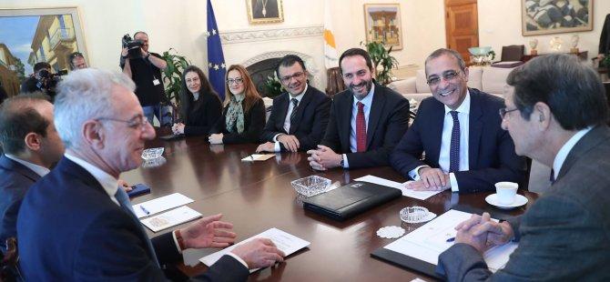 CTP Kıbrıs Çalışma Grubu, Kıbrıslı Rum lider Anastasiadis ile görüştü